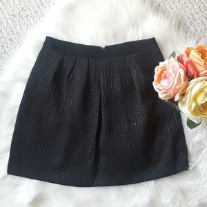 Black Pleated A-line Skirt XS * NWOT